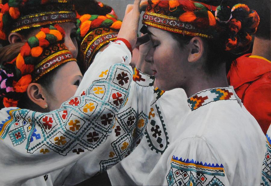 Dancers Preparing by Harry Robertson