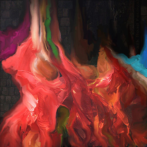 Red Painting - Dances Of The Red by MJ Alhabeeb
