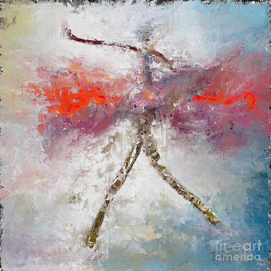Rouge Digital Art - Danceuse De La Voie Lactee by Degouges Cindy