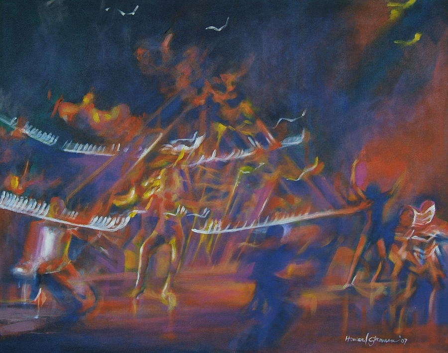 Music And Dance Painting - Dancin by Howard Stroman