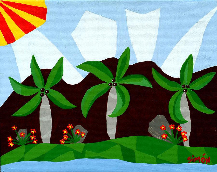 Landscape Painting - Dancin Palms by Lourdes  SIMON