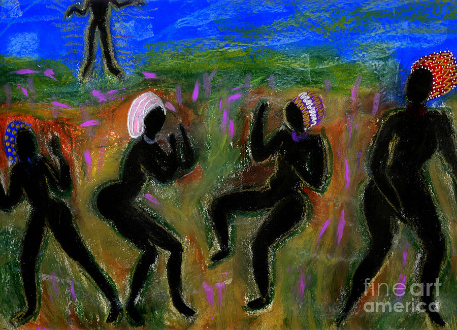 Oil Painting - Dancing A Deliverance Prayer by Angela L Walker