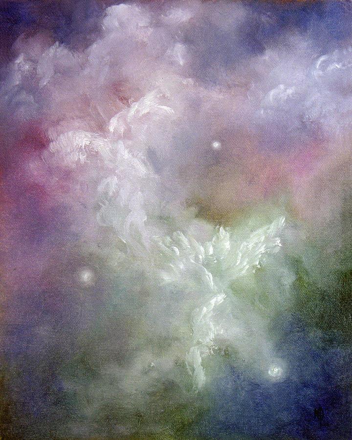 Angel Painting - Dancing Angels by Marina Petro