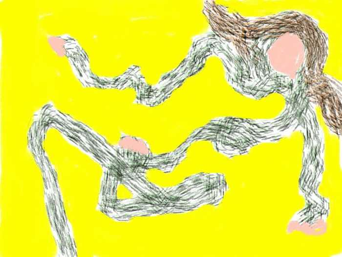 Dancing Digital Art - Dancing by Annie Dameron