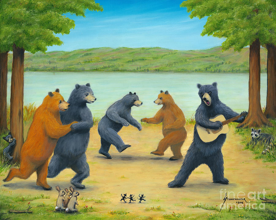 Bears Painting - Dancing Bears by Jerome Stumphauzer
