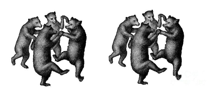 Mug Digital Art - Dancing Bears Mug by Edward Fielding