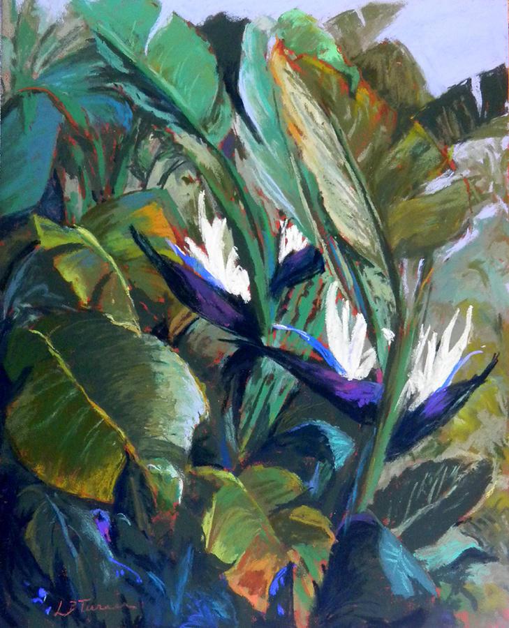 Flowers Painting - Dancing Birds by Lorrie Turner