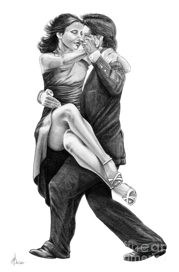 Dancing Couple Drawing By Murphy Elliott