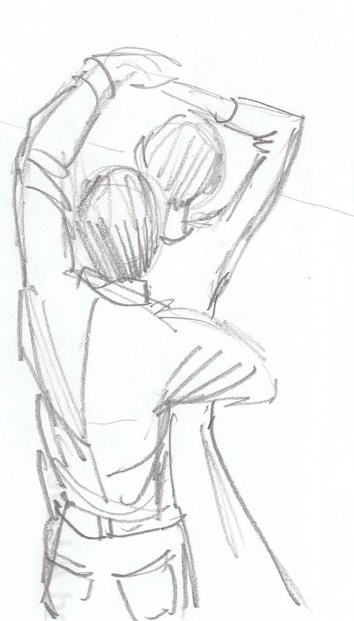 Dancing drawing dancing couple pencil sketch by mike jory