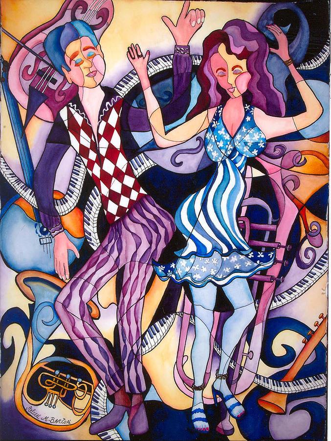 Dancing Duo Painting by Arleen Barton