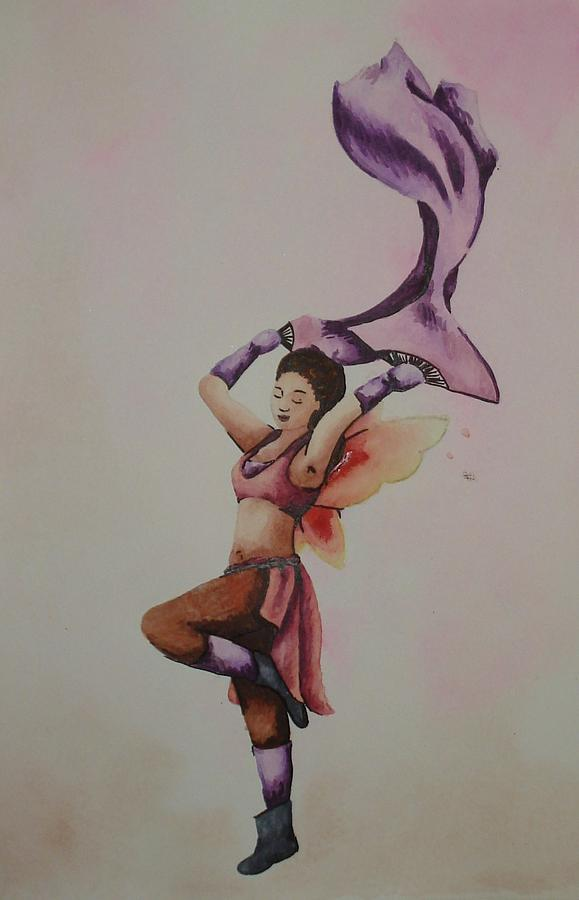 Fairy Painting - Dancing Fairy by Ally Mueller
