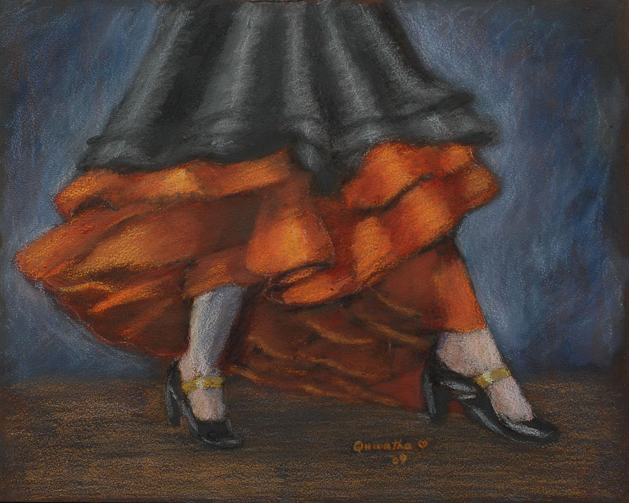 Dance Painting - Dancing Feet by Quwatha Valentine
