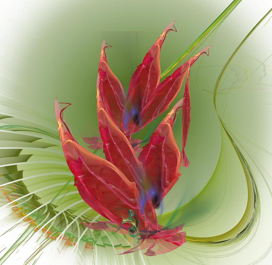 Dancing Flower Digital Art