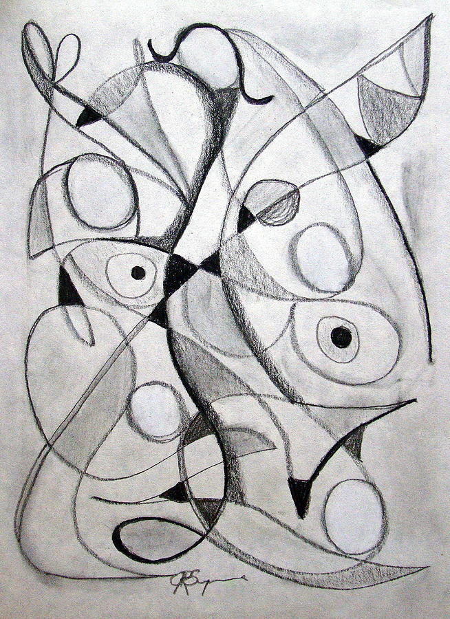 Pencil Drawing - Dancing For Joy by J R Seymour