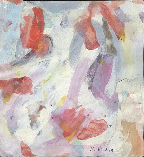 Painting Painting - Dancing Forms by Ali EL HADJ TAHAR