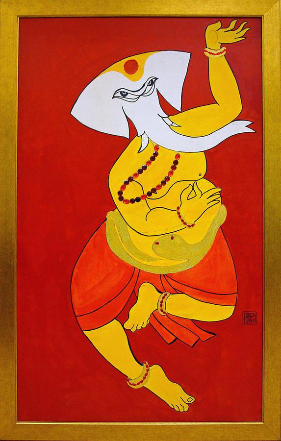 Dancing Ganesha by Guruji Aruneshvar Paris Art Curator Katrin Suter