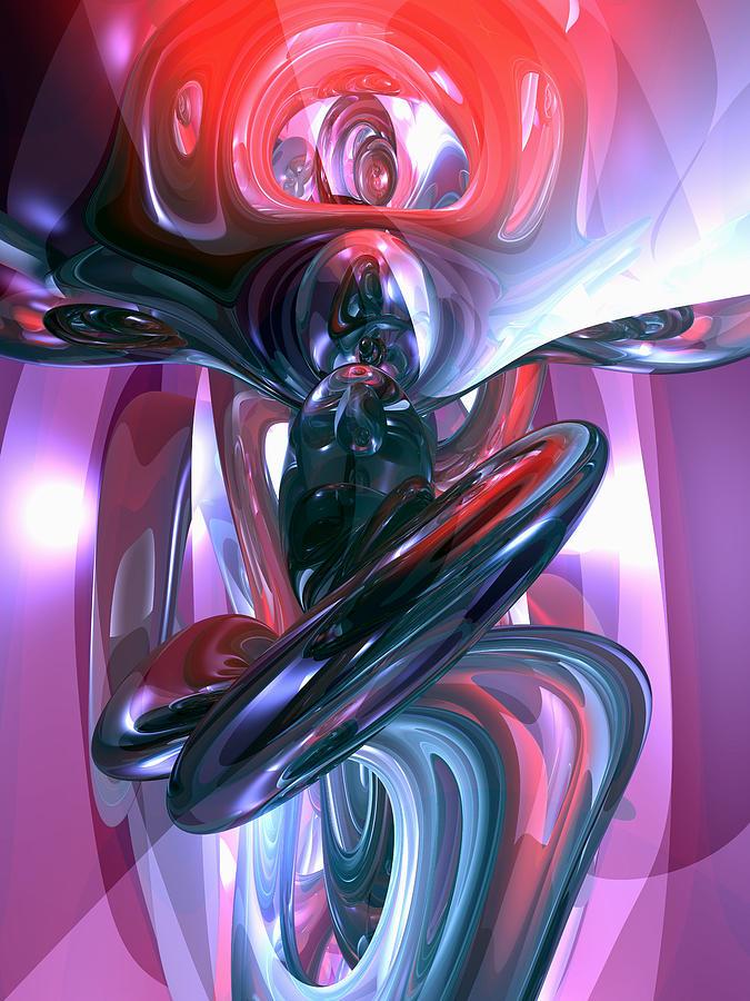 3d Digital Art - Dancing Hallucination Abstract by Alexander Butler