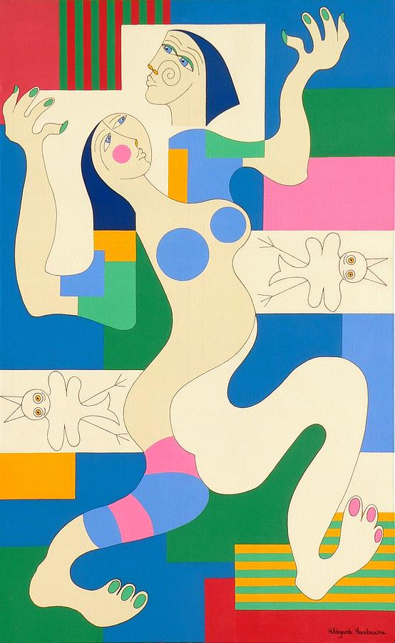 Dancing Painting by Hildegarde Handsaeme