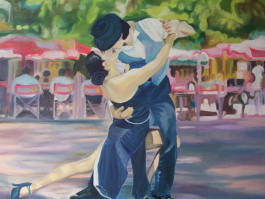Dancing Ikars Painting by Ewald Smykomsky Beyond Gallery Cafe of Kathlin Austin
