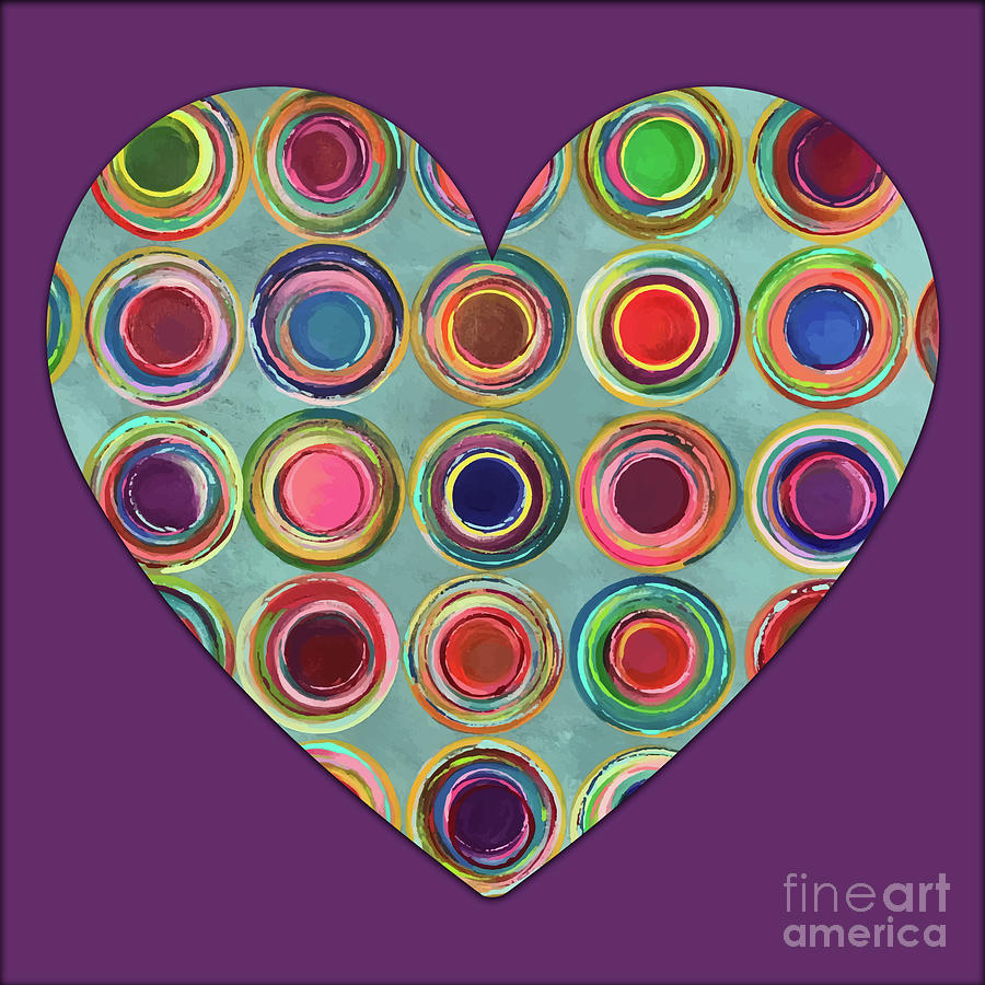 Dream Painting - Dancing In Circles Heart by Carla Bank