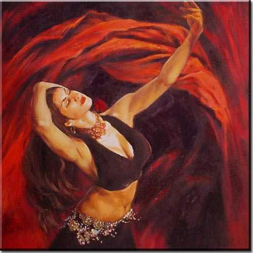 Oil Painting Painting - Dancing In Color by Yvonne Yu