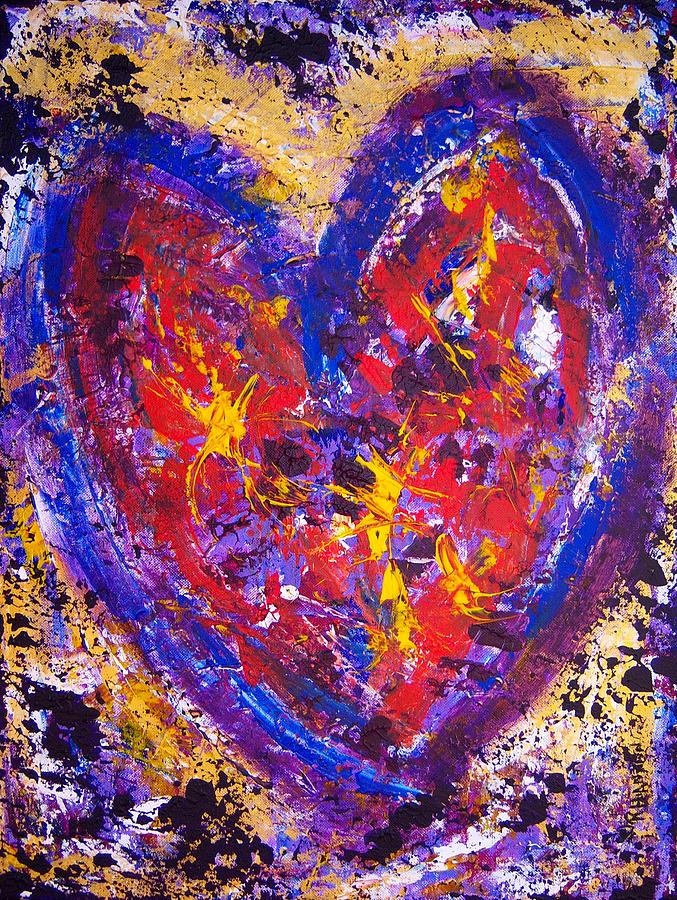 Heart Painting - Dancing In Love by Rhiannon Marhi