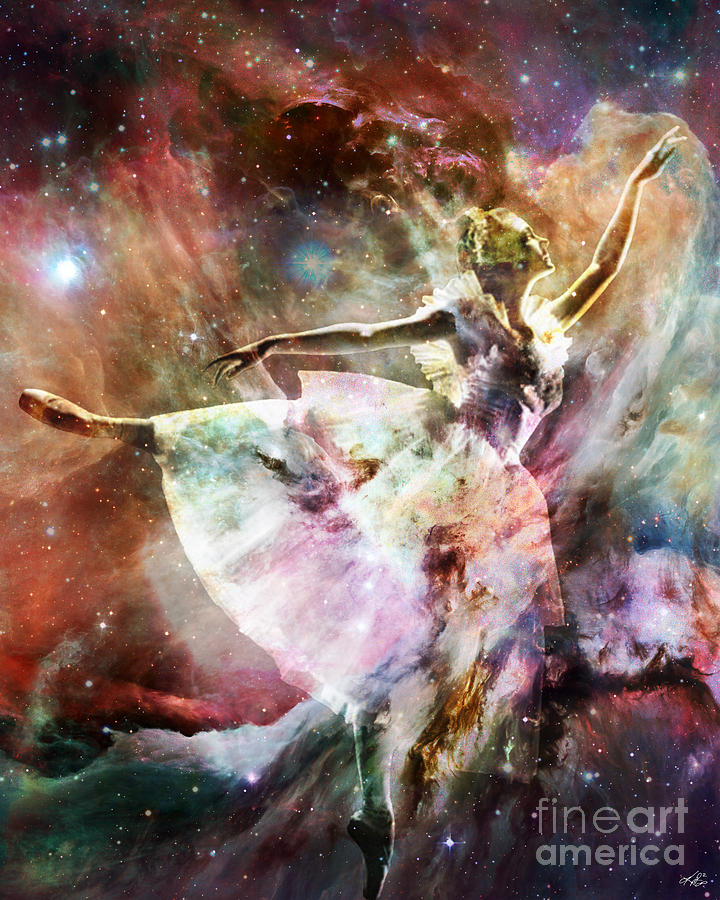 Ballet Digital Art - Dancing In Stardust by Kenneth Rougeau