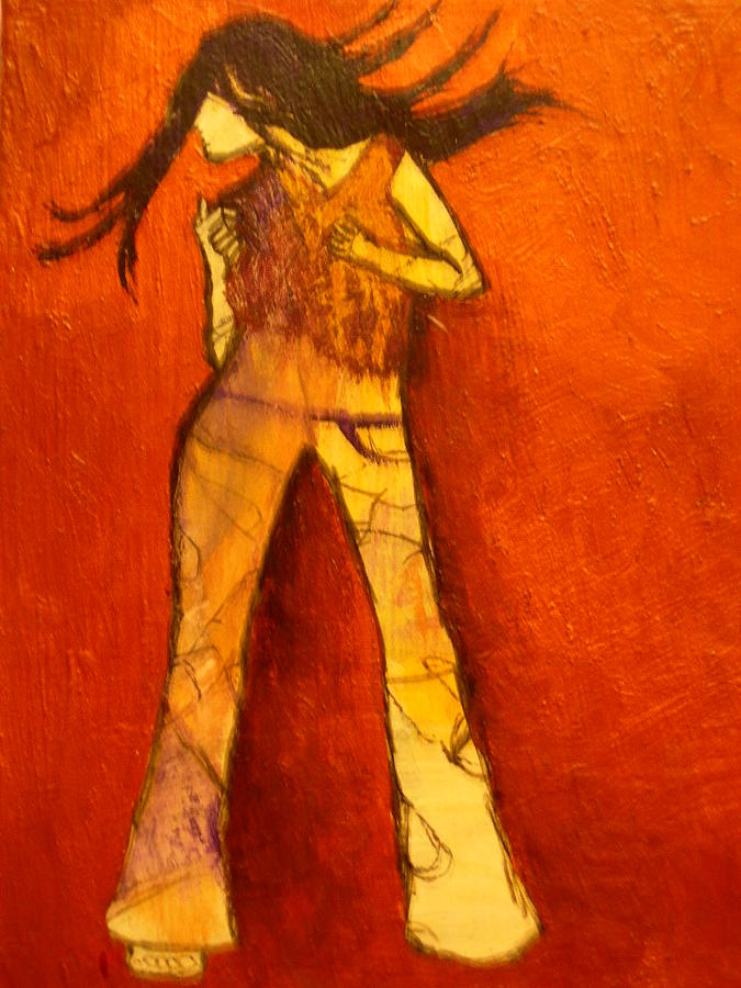 Portrait Painting - Dancing In The Club by L Visser