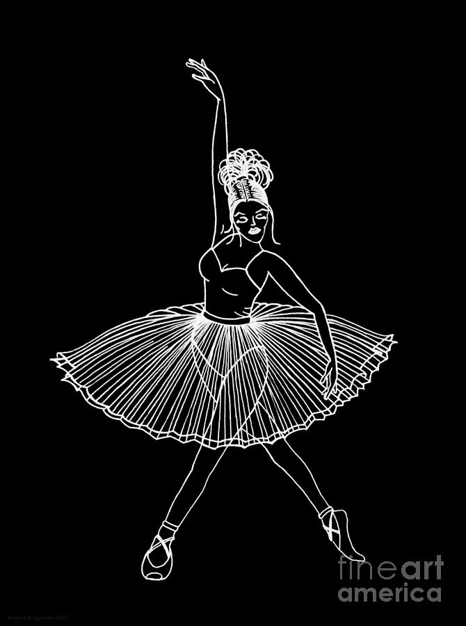 Dancing In The Dark Drawing By Breena Briggeman