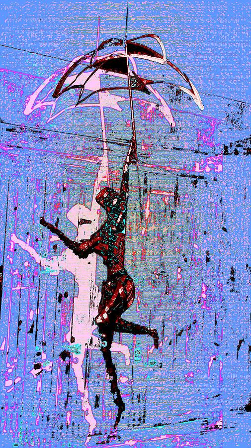 Rain Digital Art - Dancing In The Rain by Tony Marquez