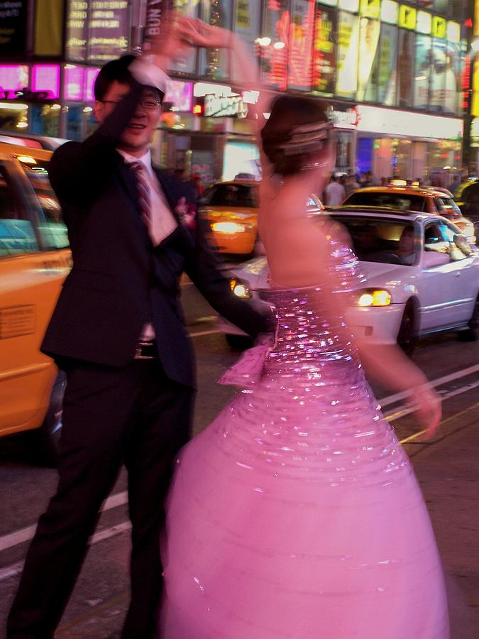 Dancers Photograph - Dancing In Times Square by Vijay Sharon Govender