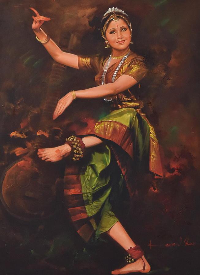 bharatanatyam dance painting - photo #17