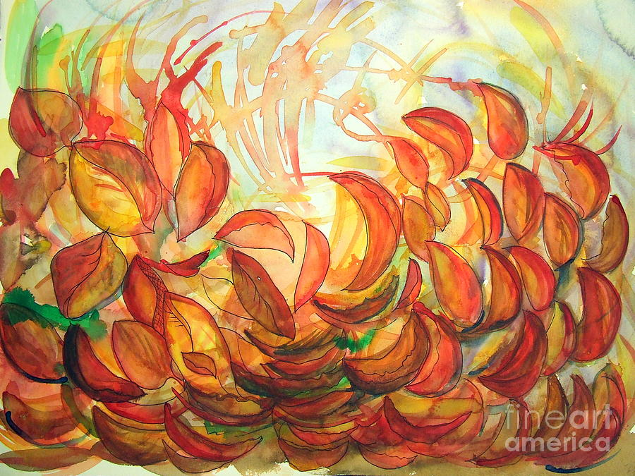Leaves Painting - Dancing Leaves by Vanda Sucheston Hughes