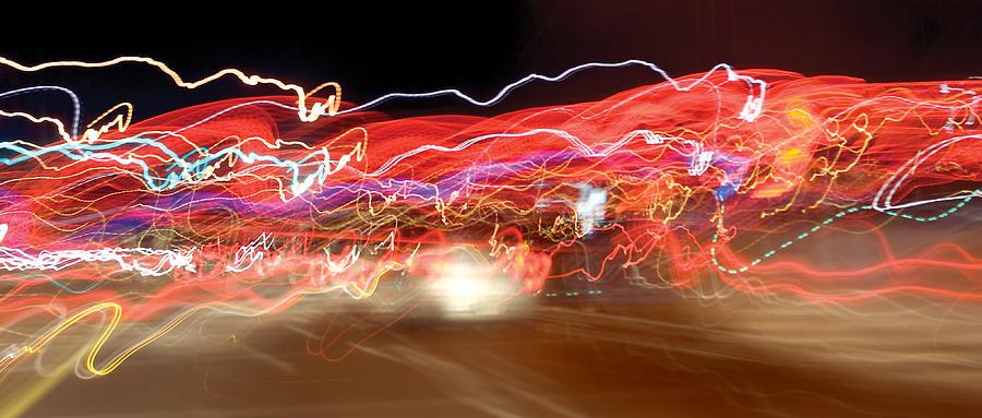 Dancing Light Streaks-2 Photograph