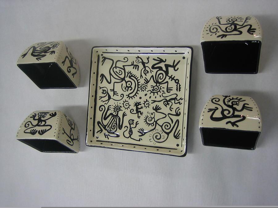 Dancing Monkeys Drawing - Dancing Monkeys IIi by Lehua Ehukai