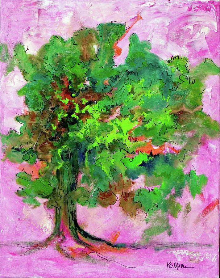 Oak Tree Painting - Dancing Oak by KC Moore