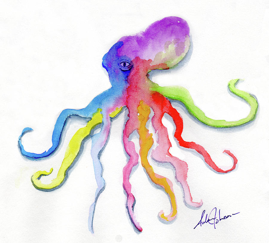 Dancing Octopus by Adam Johnson