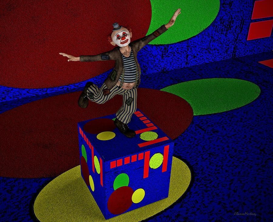 Fantasy Digital Art - Dancing On A Cube by Ramon Martinez