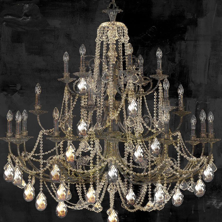 lit chandelier painting by mindy sommers