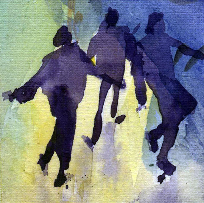 People Painting - Dancing People by Natalia Eremeyeva Duarte