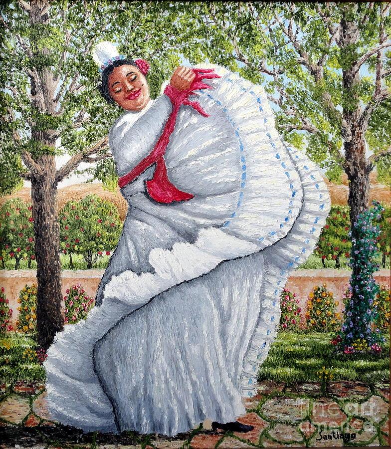 Spanish Dancer Painting - Dancing Queen by Santiago Chavez