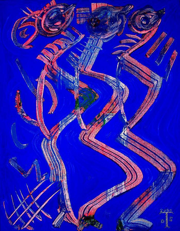 Prints Painting - Dancing Queen by Teo Santa