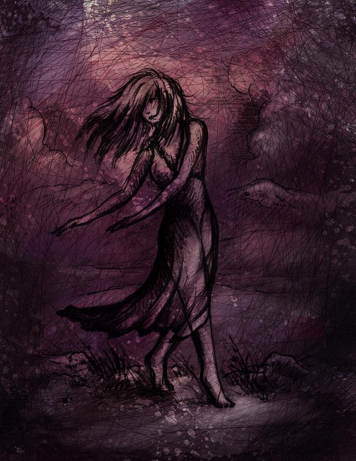 Figure Drawing - Dancing by Rachel Christine Nowicki