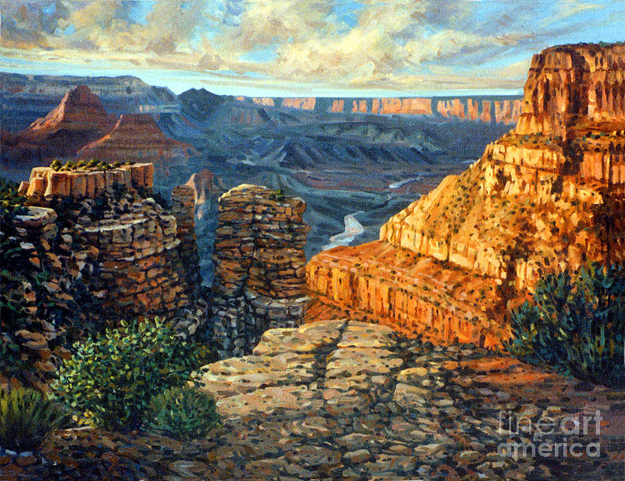 Grand Canyon Painting - Dancing Rock by Donald Maier