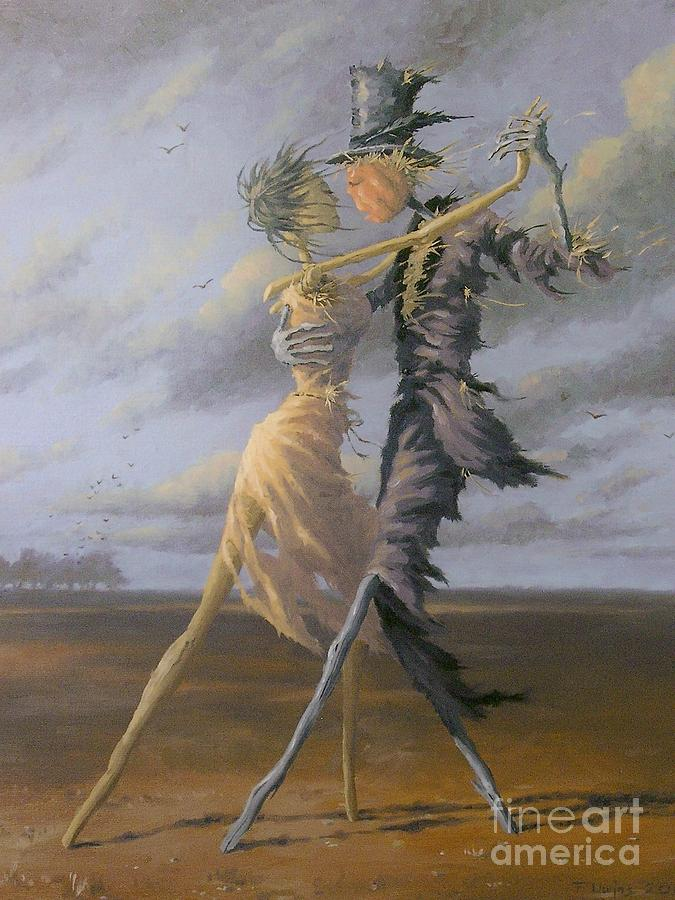 Dancing Scarecrows Painting By Uwins Francis