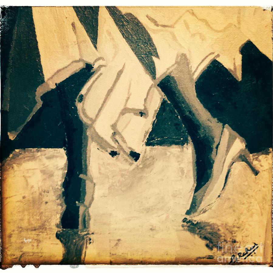 Dancing Shoes Painting by Rahul Ramakrishnan