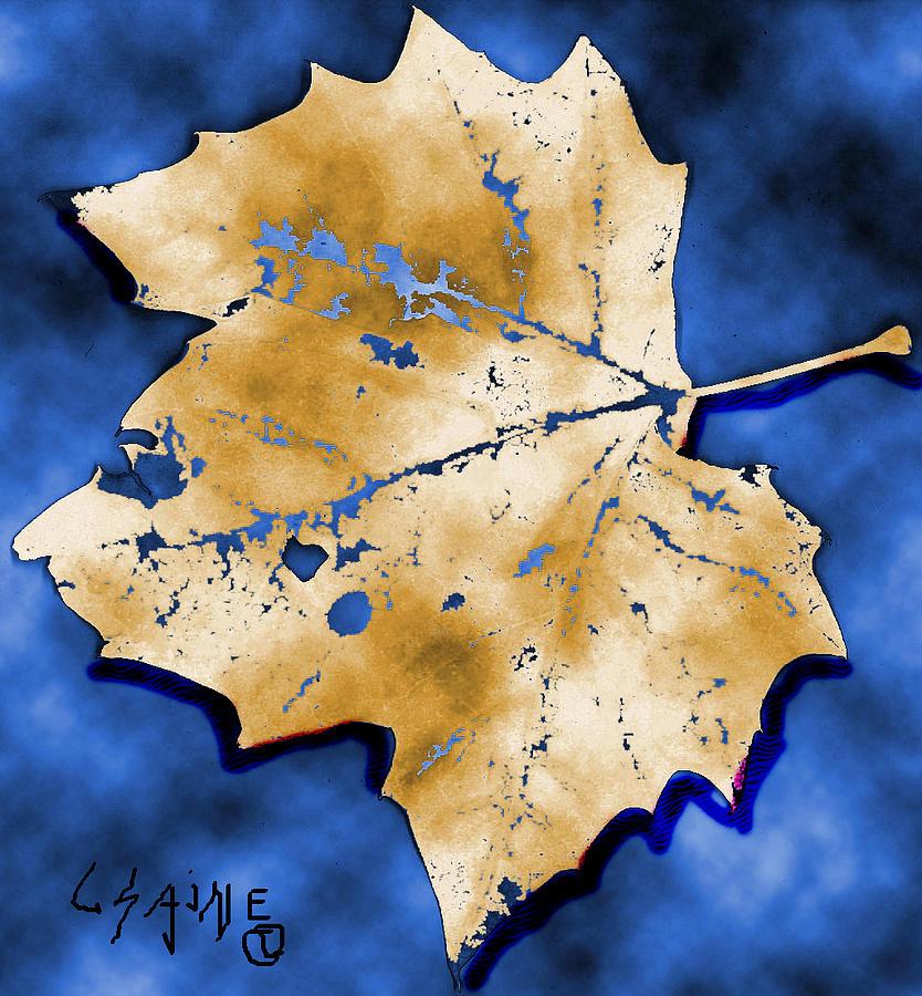 Digital Digital Art - Dancing Tan Leaf by Carolyn Saine
