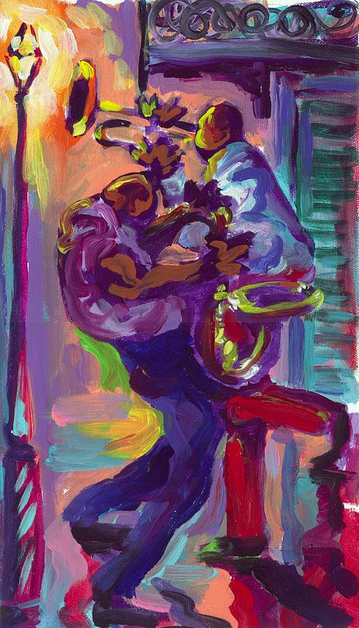 Dancing Painting - Dancing To The Music by Saundra Bolen Samuel