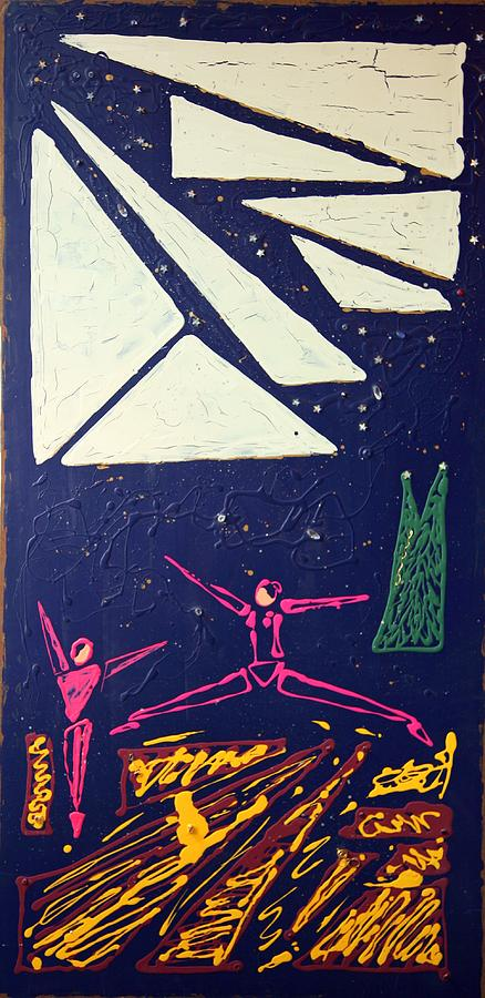 Dancers Mixed Media - Dancing Under The Starry Skies by J R Seymour