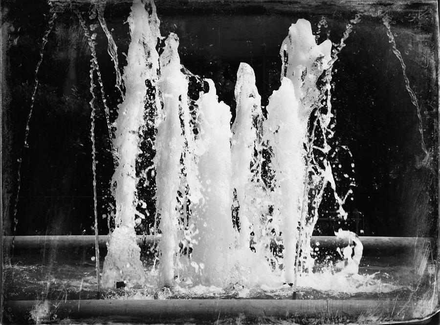 Dancing Waters B/W by Deborah Kunesh
